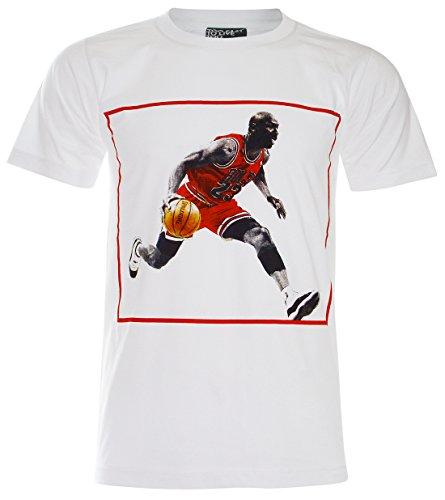 PALLAS) Michael Jordan Basketball T-Shirt (PA014) (Medium, White)