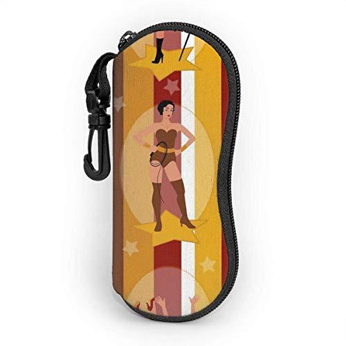 Sonnenbrille Soft Case Ultra Light Tragbare Schutzhülle mit Gürtelclip, Circus Ladies