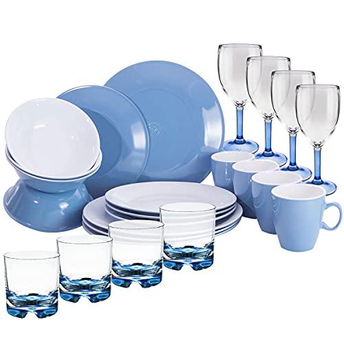 Melamin Geschirr und Polycarbonat Glas...