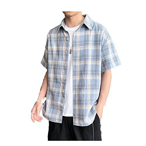 Preisvergleich Produktbild NOBRAND Herren Hemd,  locker,  lässig,  kurzärmelig Gr. XL,  blau