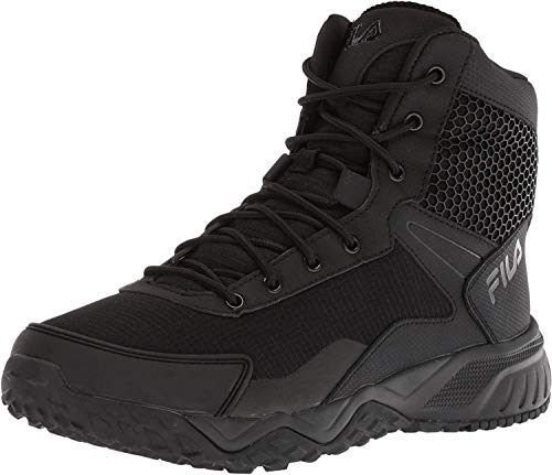 Fila Men's Chastizer Military and Tactical Boot Food Service Shoe, Black, 9.5...