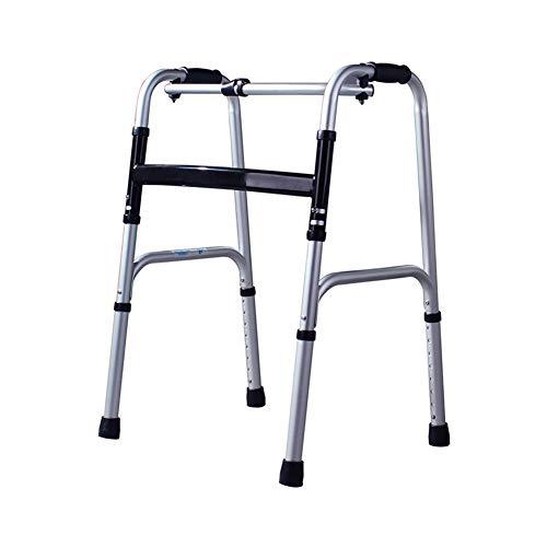 XJZHAN Leichter Gehrahmen Leichtes Aluminium mit Rädern Stabiles Gehgerät und Unterstützung mit Rädern,color2,51x47x73cm