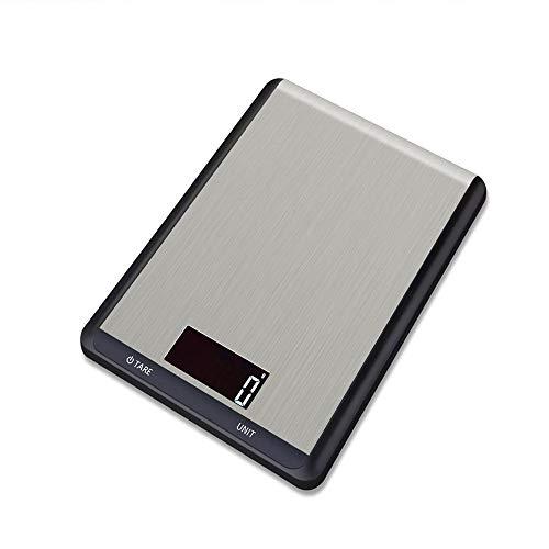 mit präziser Messgenauigkeit 1g-10kg 5KG Digitale Küchenwaage Elektrische Lebensmittelmessgeräte Edelstahl-Schwarz_5Kg