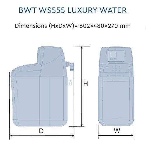 BWT WS555 Hi Flow Electronic Demand Block/Tablet Water Softener, Blue, 14 Litre