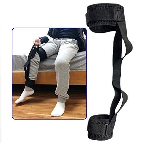 DYWOZDP Oberschenkel Lifter Bein-Bügel Lifting Füße Beine nach Oben Verstellbare Füße Heben Straps mit Handgriff Knöchel Lifters Loops Mobilitätshilfen Zubehör Ältere Disability,1piece