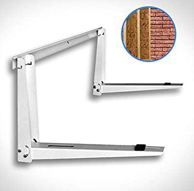 Universal Outdoor Mini Split Mounting Bracket for Heat Pump Systems Up to 500lbs, 9000-36000 BTUs with Installation Kits & Hardware Included, Steel & Powder-Coated
