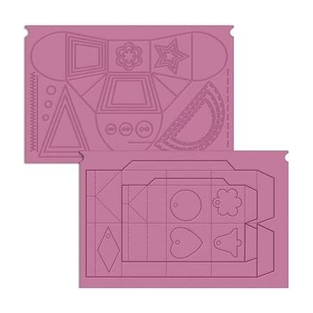 Crafter's Companion The Ultimate Crafter's Companion Pro, Violet, Plastique, Embossing Board - Special Treats, 36.7 x 22.4 x 0.3 cm