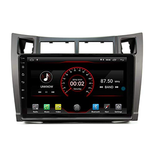 BWHTY Android 10 Car DVD Player GPS Stereo Head Unit Navi Radio Multimedia WiFi para Toyota Yaris 2005-2011