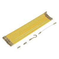 freneci グラスファイバープーラーケーブルワイヤー4mmロッド電気接続可能な魚テープ33cm