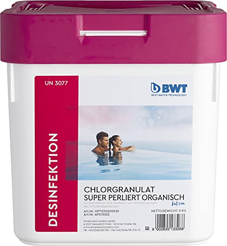 BWT Chlorgranulat super perliert 5 kg | Hochwertiges Chlorgranulat in perlierter Form und auf organischer Basis
