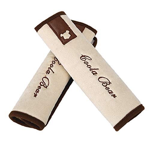 Auto gordel Pad Cover, 2-Pack zachte schattige auto veiligheid gordel riem schouderband pad voor volwassenen en kinderen, geschikt voor auto gordel, rugzak, schoudertas Multi kleuren