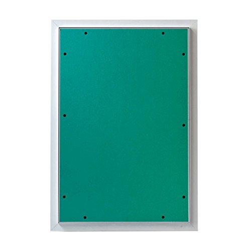 MW multi werkzeug Revisionsklappe 400 x 600 mm mit 12,5mm GK-Einlage imprägniert für Feuchtraum geeignet Aluminium-Rahmen weiß pulverbeschichtet 40 x 60 cm
