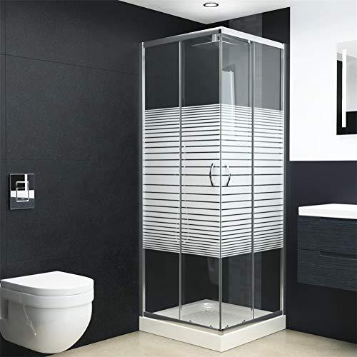 "BLUECC Shower Enclosure Safety Glass Shower Doors (Panels, 31,5"" x 31,5"" x 72,8"")"