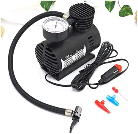 BAZLO HOUSE Air Compressor for Car and Bike 12V 300 PSI Tyre Inflator Air Pump for Motorbike,Cars,Bicycle,for Footbal...