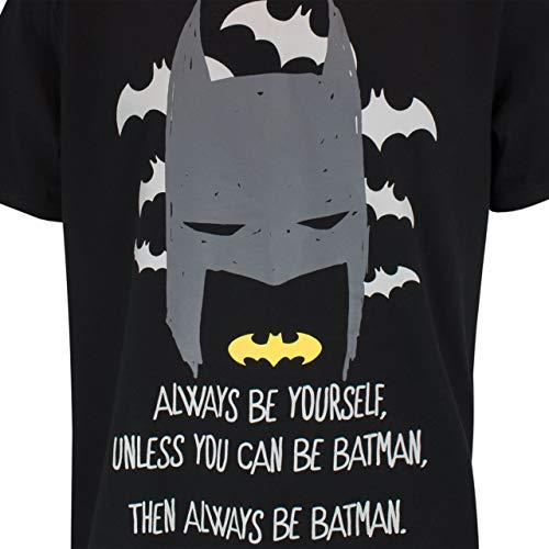 DC Comics Pijama para Hombre Batman Negro Size XX-Large