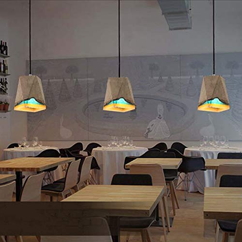 WarmHome Arco Iris Retro-Estilo Industrial Apartamentos Tipo Loft De Techo De Cemento Personalidad Lámpara De Araña Colgando Bar Bar Cafe Pasillo Restaurante Balcón Pasillo Agradable (Color : C)