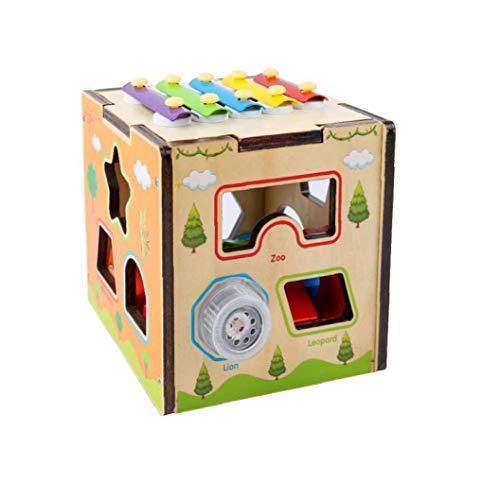 Niños Golpeando Caja De Juguetes De Animales De Dibujos Animados Diseño De Forma Creativa Matching Caja Multi Función De Madera Juguetes Del Bloque De Inteligencia Clasificación Los Juguetes Con