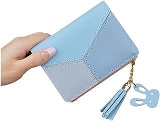 GUMAOPAJIAAAqb Monederos de Mujer, Leather lady wallet long zipper coin purse tassel design hand wallet female money credi...