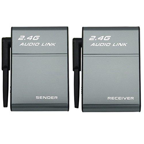 2,4 G kabelloser digitaler Audio-Sender und Empfänger-Adapter für HiFi-Heimkino-Systeme, Lautsprecher, Verstärker