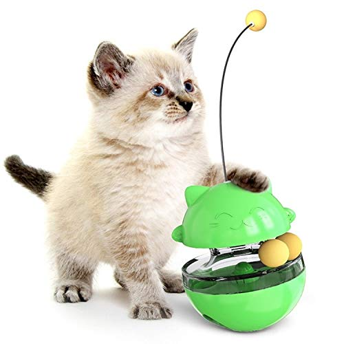 WXX Animal doméstico del Gato de Juguete Sacudiendo la Alimentación Bola del Vaso de la Bola del Juguete (Verde) (Color : Green)