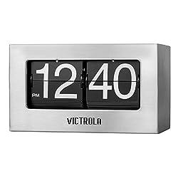 Victrola VC-450-SLV Flip Clock Small Silver