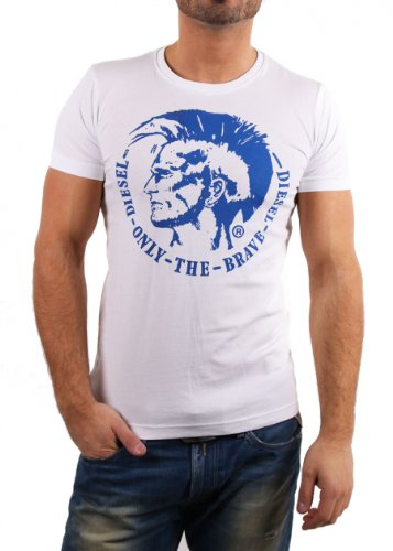Diesel Camiseta Hombre M Blanco 00CWCS-00JTS