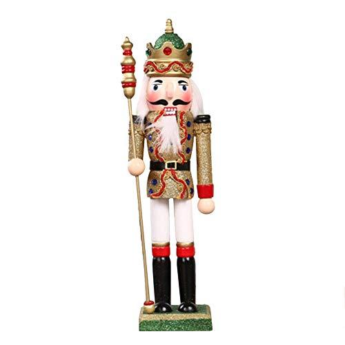 Sue-Supply 30cm Houten Geschilderde Notenkraker Puppet - Kerst Decoratie Gift, Notenkraker Ornament Set, Puppet Speelgoed Gift Kinderkamer Decoratie Ornament gelijkgestemde metgezel