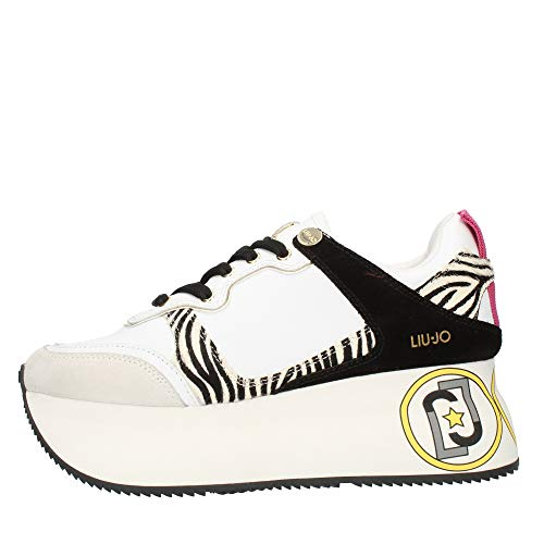Liu Jo Sneaker Liujo Super Maxi Wonder 2 Donna Bianco 37 Taglia Europea : 37