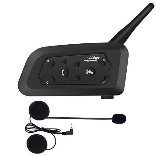 bester Test von bluetooth headset motorrad OKEU V61200M Motorradhelm Gegensprechanlage Wasserdicht Winddicht Bluetooth Headset GPS / MP3 /…