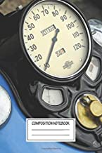 Composition Notebook: Cars Harley Davidson Knucklehead Gauge Automotive Works Wide Ruled Note Book, Diary, Planner, Journal for Writing