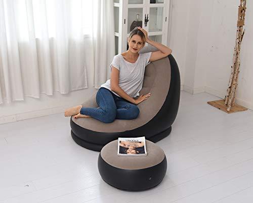 XUE-SHELF Einfaches 2er-Set, tragbares, aufblasbares Sofa, Outdoor, Strand, Mode, aufblasbares Bett, Gartenmöbel, 116 x 98 x 83 cm