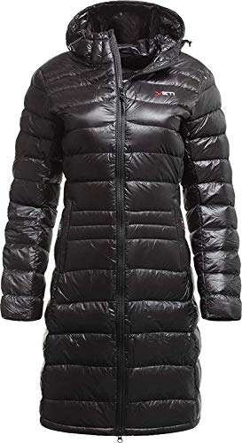 YETI Faith W's Lightweight Down Coat Damen Daunenmantel Mantel, Black, Größe L