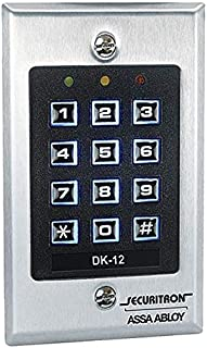 Securitron Digital Access Keypad, 99 User Code - DK-12