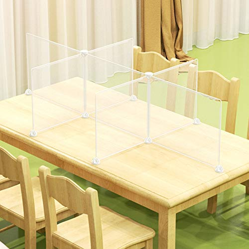 DNNAL Kindergarten Sneeze Guard Shield, Acrylic Table Top Plexiglass Sneeze Guard Divider Shield Barrier Partition,1506040cm