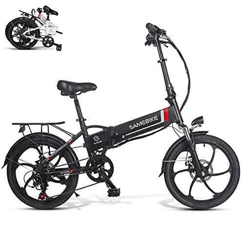 """Rymic Folding Electric Bike for Adults, 350W 20"""" Electric Bicycle with Removable 48V 10.4Ah Lithium Battery"""
