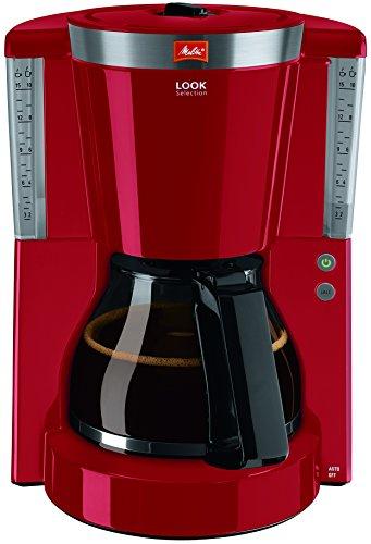 Melitta Look Selection 1011-17, Filterkaffeemaschine mit Glaskanne, AromaSelector, rot