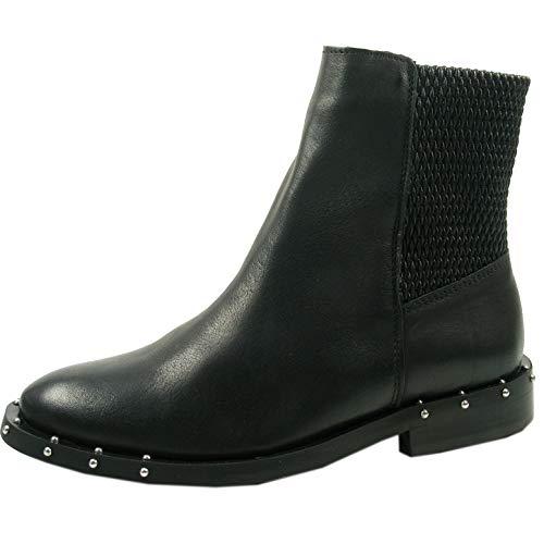 Bronx Bwagonx 46991-E-01 Schuhe Damen Chelsea Boots Biker Stiefeletten, Größe:38 EU, Farbe:Schwarz