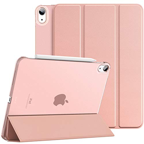 Dadanism iPad Air 4th Generation Case 2020 iPad 10.9 Case, Slim Smart Shell Protective Stand Cover with Translucent Frosted Back, Auto Wake/Sleep, Rose GOLD