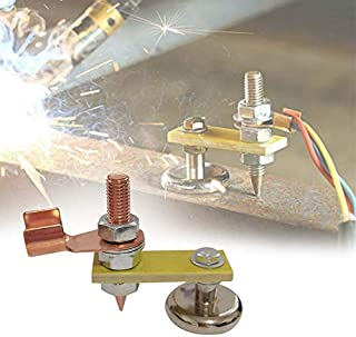 Welding Magnet Head Magnetic Welding Support Welding Machine Ground Connector Spotter Connector Car Dent Repair Spare Parts Stud Auto Bodywork Spotter Tools (A)