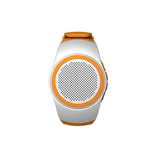 UKCOCO B20 Smart Watch Wireless da Polso Portatile da Indossare Sport con Musica di Allarme Sport Sottile e Leggero Bluetooth Speaker da Supporto TF Card Radio FM Autoscatto (Bianco)