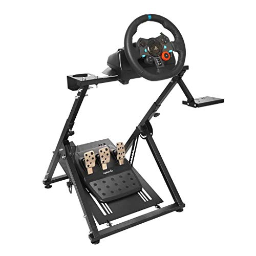 Marada Racing Wheel Stand X Frame Racing Simulator Steering Wheel Stand Foldable & Tilt-Adjustable for G29 G920 T300RS T150 PS4 Xbox Wheel Pedals NOT Included