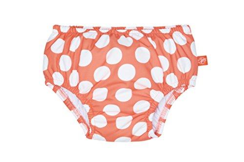 LÄSSIG Baby Schwimmwindel Badewindel wiederverwendbar waschbar Auslaufschutz UV-Schutz/Splash & Fun Baby Swim Diaper girls-jolly dots, 18 Monate, Größe L