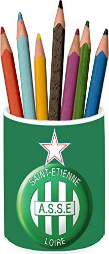 Association Sportive De Saint-Étienne Portalápices Vaso Cerámica Pencil Holders Ceramic Glass