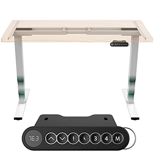 Tablakala Standing Desk. Mesa elevable, Ajustable en Altura de 62 a 127cm. Mesa Escritorio Ordenador, eléctrica y automática. 4 Posiciones de Memoria y 2 Motores. Escritorio Blanco