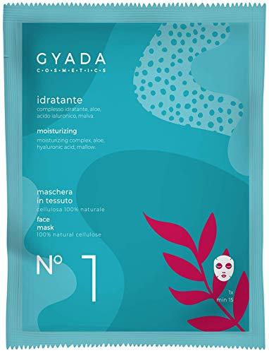 Gyada Cosmetics Maschera in Tessuto N. 1 Idratante, Certificata Bio, Made in Ital, 15 Ml