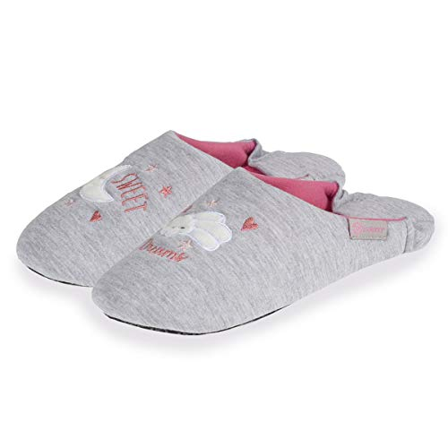 Isotoner Chaussons Babouches Femme Broderie...
