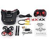 5.8G 40Ch FPV Camera Mini Rc Racing Drone Quadcopter con Occhiali da 3 Pollici (Rosso e Nero)