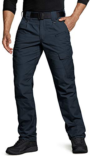 CQR Herren Tactical Hose, Imprägniermittel Ripstop Cargo Pants, Leichte EDC Wandern Arbeitshosen, Outdoor Bekleidung, Tlp108 1pack - Navy, 36W / 36L