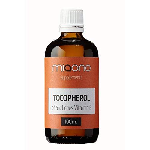 Tocopherol 100ml - pflanzliches Vitamin E - feine Kosmetik Supplements von miaono