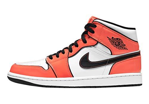 Nike Air Jordan 1 Mid Turf Orange/Schwarz Weiß DD6834-802 Herren, (Rasen orange/schwarz-weiß), 42 EU thumbnail